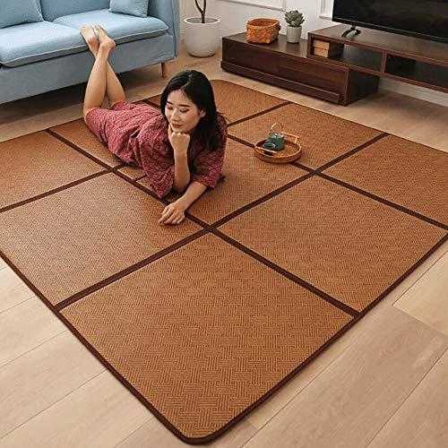 XM&LZ Pliable Épaissir Bambou Japonais Tatami Mat,Rotin Tapis,Exercice Aliments pour l