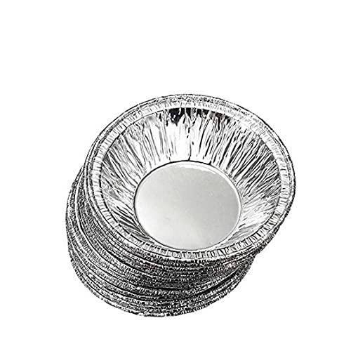 fregthf Ronda del Papel de Aluminio desechable Tarta sartenes Galleta de la Magdalena Pudín de Huevo Tarta Molde Forrado de Relleno Pica la empanada sartenes o Las natillas de láminas Casos 230 Pcs