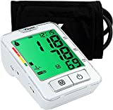 Vaunn Medical Automatic Upper Arm Digital Blood Pressure Monitor and Pulse Rate Monitoring Machine (Sphygmomanometer) with Smartcheck and GentleRead Technology - FDA Cleared, FSA and HSA Eligible