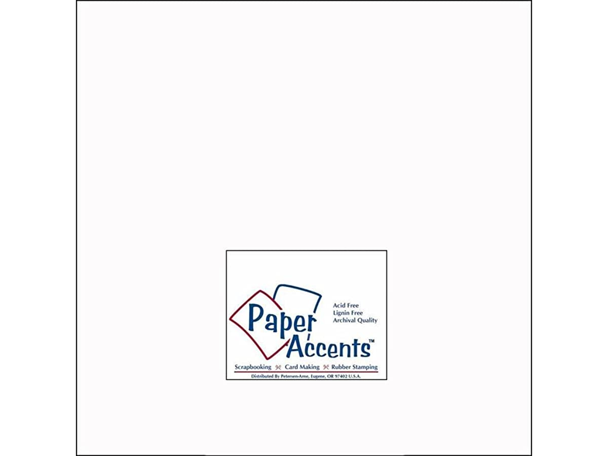 Accent Design Paper Accents 100lb Cdstk Smooth 12x12 100# White