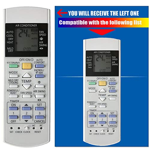 Replacement for Panasonic Air Conditioner Remote Control CS-E12RKUAW CS-E9RKUAW CS-ME5RKUA CS-ME7RKU CS-ME7RKUA CS-E12RKUA CS-E9RKUA