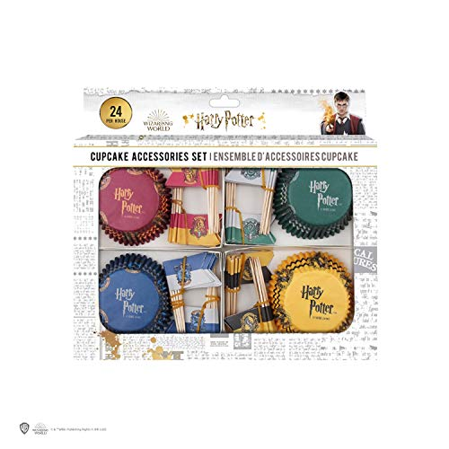 Harry Potter - Set de 100 Moldes para Cupcakes + Banderas - Oficial - Cinereplicas