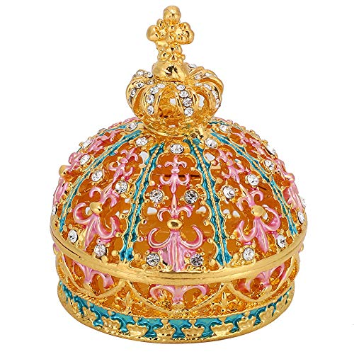 Yeelur Caja de Almacenamiento de joyería Pintada con Esmalte, joyero, aleación de Zinc para Manualidades de Metal para Mujeres, Amigos, Regalos para el hogar