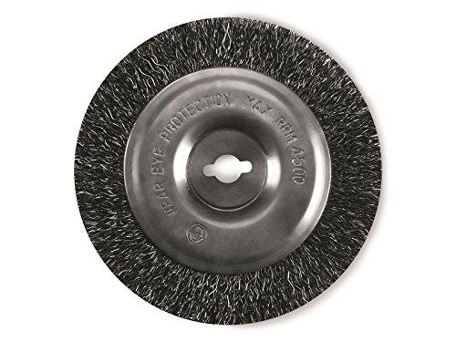 Original Einhell Ersatzbürste Stahl Fugenreiniger-Zubehör (passend für Elektrischer Fugenreiniger CG-EG 1410, GE-CC 18 Li, Bürste aus Stahl mit 100 mm Durchmesser)