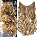 """TESS Haarteil Extensions 1 Tresse Ombre Haarverlängerung Synthetische Haare Haarverdichtung 20""""(50cm)-90g Gewellt Dunkelblond"""