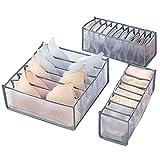 UFLF 3pcs Organizador Ropa Interior Cajones Caja Organización Sujetadores Plegable de Tela Caja Almacenaje para Armario Sostenes Calcetínes Corbata Braga Bufanda Pañuelo
