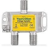 TechniSat 2-Wege Sat-Verteiler (diodenentkoppelter 2-Wege Verteiler, einsetzbar in TechniRouter-Anlagen)