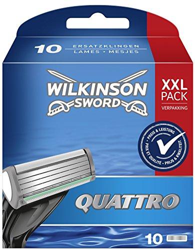 Wilkinson Sword Quattro Rasierklingen für Herren Rasierer, 10 Stück