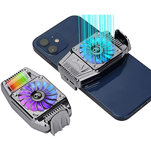 YOMERA Ventilador De Refrigeración para Teléfonos Móviles, Cell Phone Cooler, Radiador de Teléfono para Jugar Juegos, Mirar Videos, Compatible con el teléfono Inteligente Universal iPhone/Android