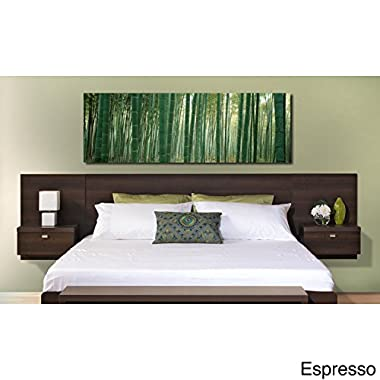 Metro Shop Valhalla Designer Series Floating King Headboard with Integrated Nightstands