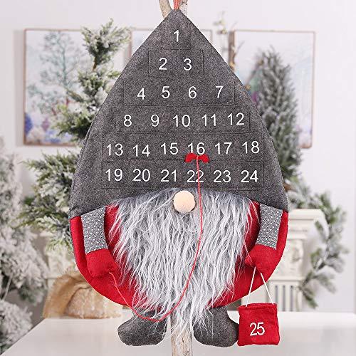 Dricar Adventskalender Zum Befüllen, Weihnachtskalender Weihnachtsmann Filz, Weihnachtskalender Bastelset, für den Adventskalender zum Basteln und Befüllen