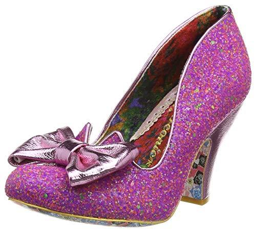 Irregular Choice Nick of Time, Zapatos de tacón con Punta Cerrada para Mujer, Rosa Rosa Rosa Multi BF, 38 EU