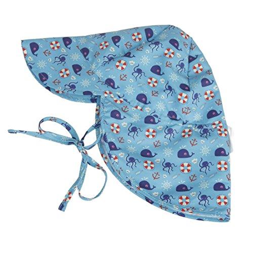 NoBrand TEYUN Flap Protection Contre Le Soleil de Natation Chapeau avec Cartoon Design UPF 50+ bébé et Tout-Petits Hat (Color : Whale Blue, Size : S)