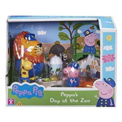 Zoo themed playset Includes figures, themed sign, a cart, tortoise and butterfly display. Create your own Peppa Pig Zoo adventure Encourages imaginative play