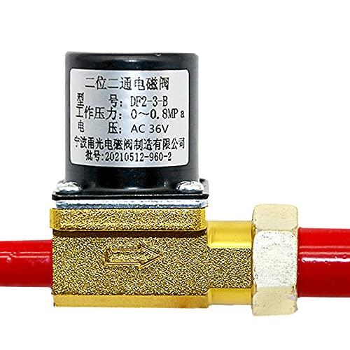 Telituny Válvula solenoide, 36V Argon Arc Soldadora Máquina de Alimentación de Alambre de Dos Posiciones Electroválvula de Dos Vías DF2-3-B