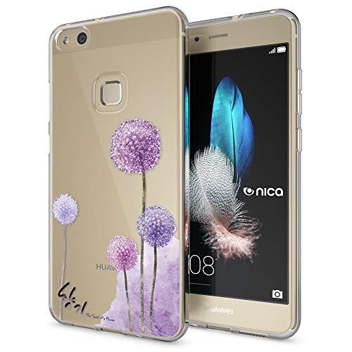 NALIA Custodia compatibile con Huawei P10 Lite, Cover Silicone Trasparente Sottile Case Gomma Morbido Cellulare Ultra-Slim Protettiva Telefono Bumper Guscio, Designs:Dandelion Pink Rosa