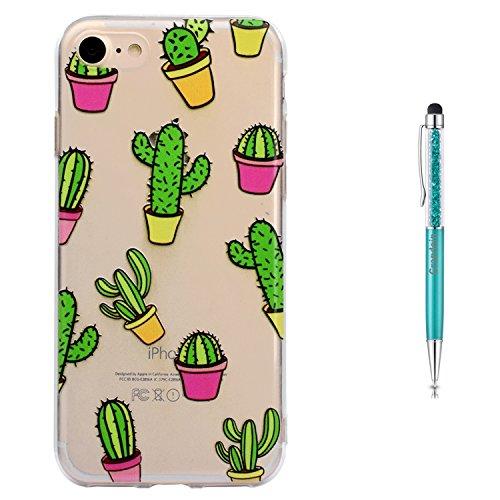 """Grandoin iPhone 8 Hülle,iPhone 7 HandyHülle, Süßes Muster Weiche TPU Silikon Schutz Handy Handytasche Etui Schale Schutzhülle für Apple iPhone 8/iPhone 7 4.7"""" - Kaktus"""