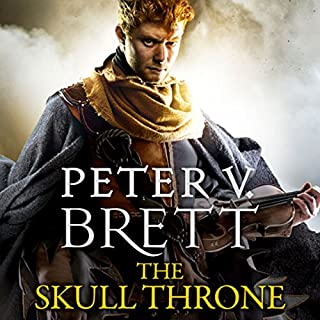 The Skull Throne     The Demon Cycle, Book 4              By:                                                                                                                                 Peter V. Brett                               Narrated by:                                                                                                                                 Colin Mace                      Length: 23 hrs and 54 mins     1,627 ratings     Overall 4.5