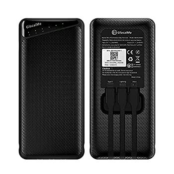 GlocalMe Triforce 4G LTE Mobile Hotspot 7000mAh Portable Charger Power Bank [MFI Certified] Wireless WiFi Device for Travel No SIM Card Needed with US 8GB & Global 1GB Data Pocket WiFi