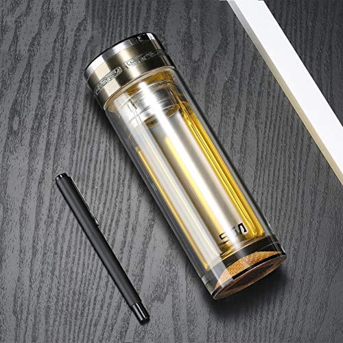 HBOY Transparente hitzebeständige Borosilikat Tee Tasse Werbegeschenk Tasse New Business Double-Layer-Glas-Localgold