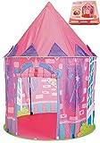 Kidodo Cabaña Infantil Princesa Interior Tienda para Niños Pop Up Carpa Plegable Juego de Castillo