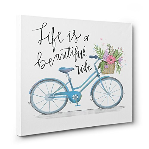 Life is A Superior Beautiful Ride BICYCLE Art Wall Décor Ranking TOP6 CANVAS Home
