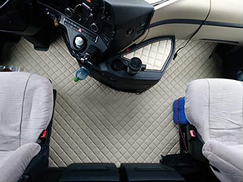 KRAM-TRUCK Mercedes Actros MP4 neumático para asiento de pasajero, alfombras, camión HELL BEIGE