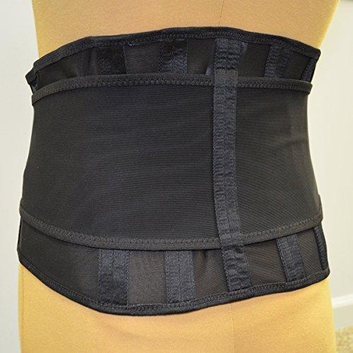 Stress Belt Elastic Lumbosacral Wraparound Back Support Brace Black 950 (L)