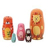 RAILONCH Matroschka Holzspielzeug Handwerk Geschenk Russische Puppen Nesting Dolls Marionette...
