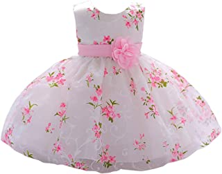 920eea28fef0 LZH Baby Girl Dress Formal Christening Baptism Gowns Pageant Dress Toddler
