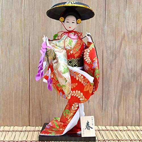Decoratie Standbeeld Sculptuur Ambachten 30Cm Traditionele Japanse Geisha Beeldjes Beelden Japanse Kimono'S Poppen Ornamenten Home Restaurant Desktop Decoratie Geschenken, Y22
