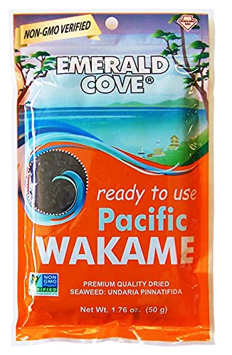 Emerald Cove Silver Grade Wakame (Dried Seaweed), 1.76-Ounce Bags (Pack of 6)