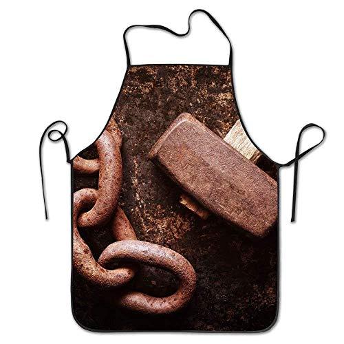Drempad Schürzen/Kochschürze, Hammer Chains Rust Metal Deluxe Aprons Personalized Printing Kitchen Apron