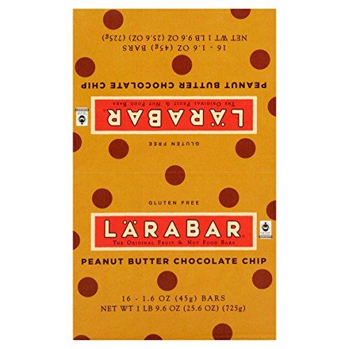 Larabar Gluten Free Bar, Peanut Butter Chocolate Chip, 1.6 oz Bars (16 Count) (Pack of 6)