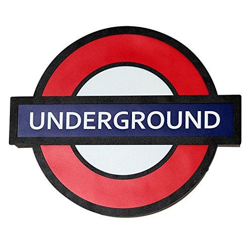 Wandleuchte Treppenhaus Flurlampe Rot Blau Weiß London U-Bahn Schild E14 Modern Wandlampe Innen