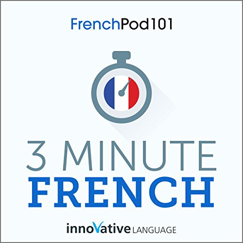 3-Minute French audiobook cover art