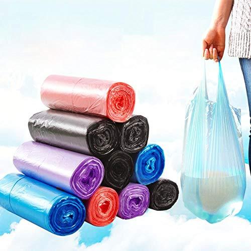 Tings Keuken Disposable tassen dispenser kleine plastic zakken thuis draagbare vuilnis toilet schoonmaak luier verwijdering grote tas, zwart, 30st