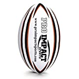 Pro Impact Training Rugby Ball - Professional Grade Ball - Ideal Toss & Kick Practice for Youth & Adult - Indoor or Outdoor Use (White, Size 4)