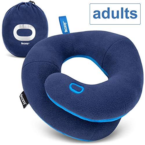 BCOZZY Chin Supporting Travel Pillow- Ergonomic Neck Cushion for Neck Pain Relief in Plane, Home,...