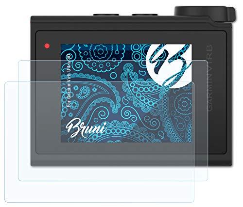 Bruni Película Protectora Compatible con Garmin Virb Ultra 30 Protector Película, Claro Lámina Protectora (2X)