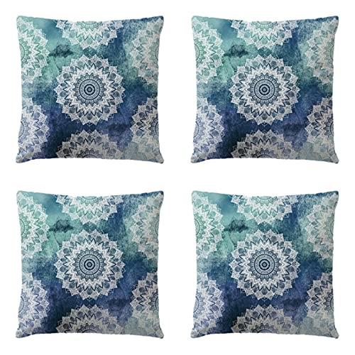 Patrón geométrico Funda de cojín 45 x 45 cm lino decoración del hogar sofá tiro almohada 4 piezas set 030258