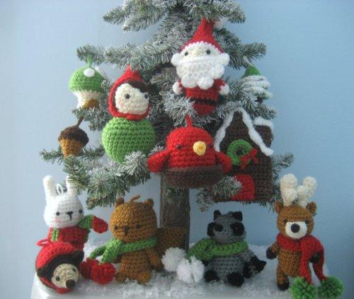 Christmas Ornament Crochet Pattern Set
