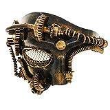 Steam Punk Phantom of The Opera Máscara Veneciana de Hombres mecánicos Vintage para Mascarada /...