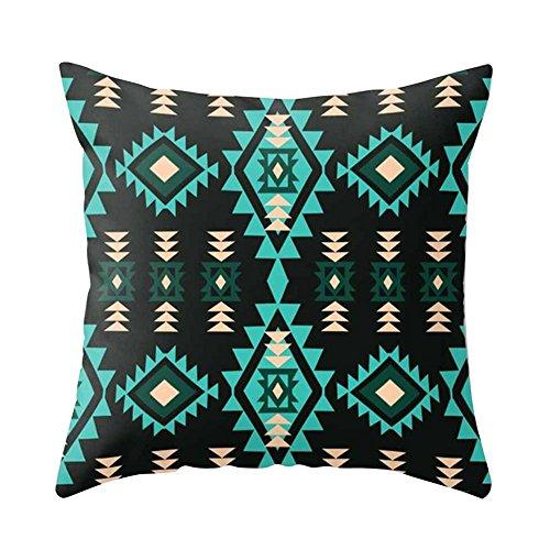 Dontdo Navajo Triangle géométrique rétro Impression Housse de coussin carré Taie d'oreiller, Polyester, 12#, Taille unique