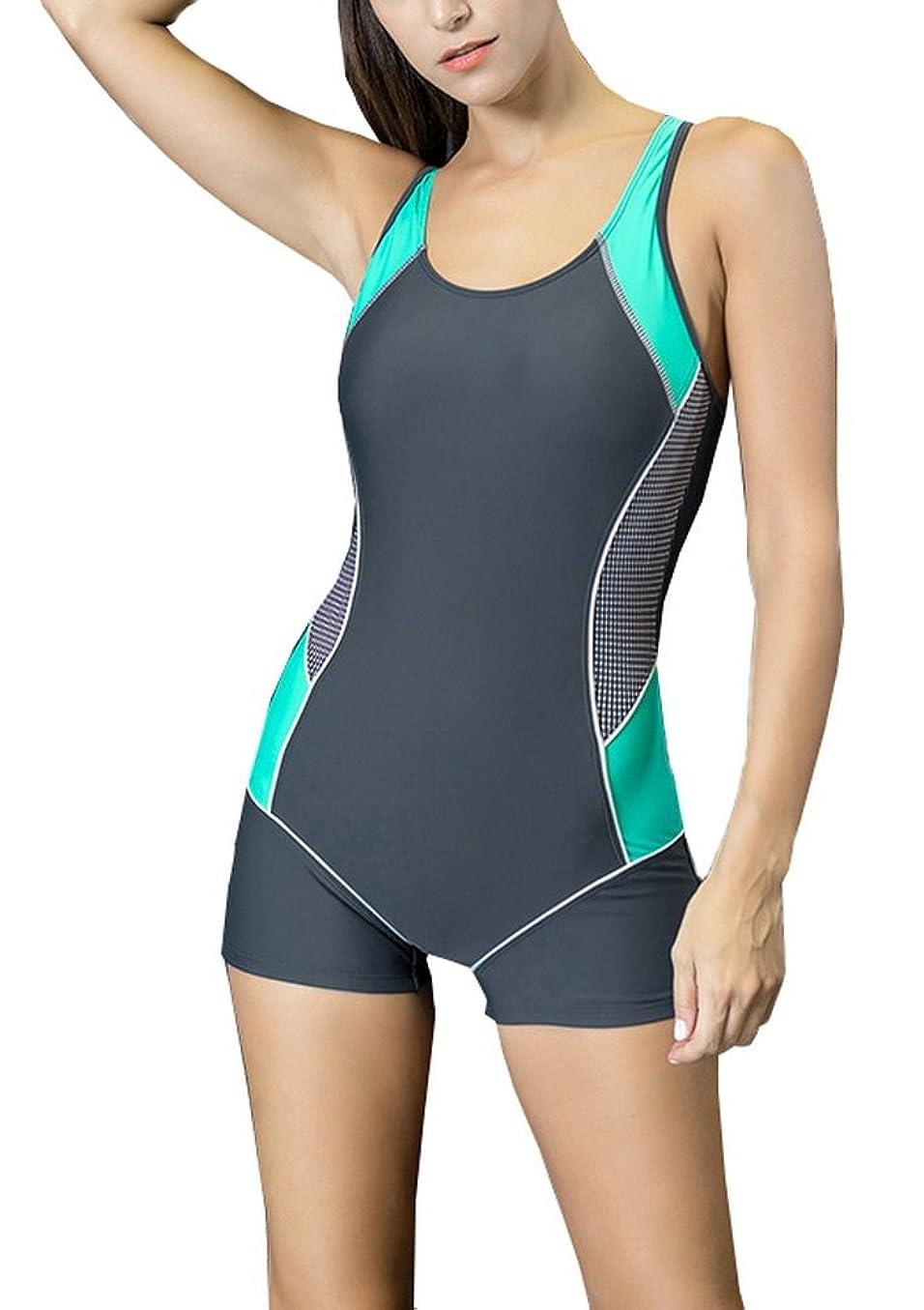 オートマトン名前を作るカウントアップVocni(ワクニー)レディース 競泳水着 フィットネス水着 ワンピース 大きいサイズ 女性 レディース競泳用水着 練習用 スイムウェア 水泳 体型カバー スポーツ水着 オールインワン