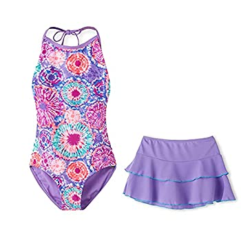 Talgat Swimsuits for Big Girls One Piece Bikini Swim Bathing Suits  ETJM37 L