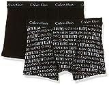 Calvin Klein 2pk Trunk Bóxer, Negro (Black Pr 002), 164-176 (Talla del fabricante: 14-16) para Niños