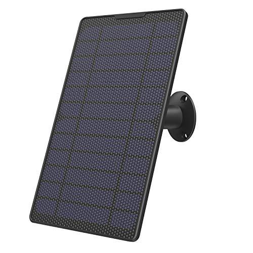 Pannello Solare Lemnoi,Utilizzato per Telecamera WIFI Esterno Batteria A100, Impermeabile IP65, Cavo 4 Metri, 4,3W