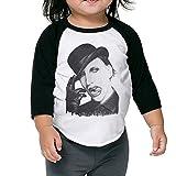 Swingthe Sun Marilyn Manson Unisex Toddler Kids Raglan T Shirts 3/4 Baseball Sleeves Baby Black