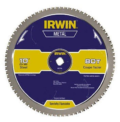 IRWIN 14-Inch Circular Saw Blade, Metal-Cutting, 80-Tooth (4935559)